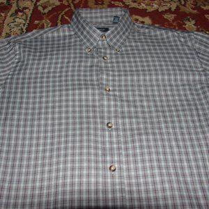 L/S Arrow Grey Plaid Button Down Shirt